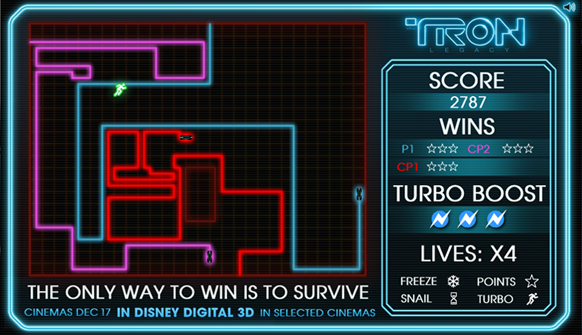 TRON: Legacy Light Cycle Game