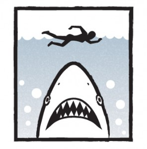 SHARK: Hope nobody blows me up before I can tell them I'm an undercover agent for the coastguard!