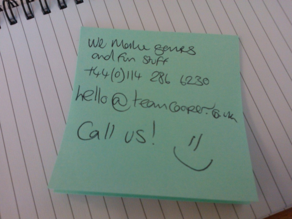 Post-it Websites are the way forward.